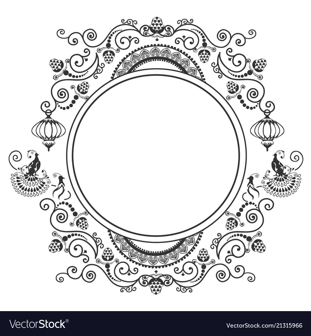 Lacy frame with a bird