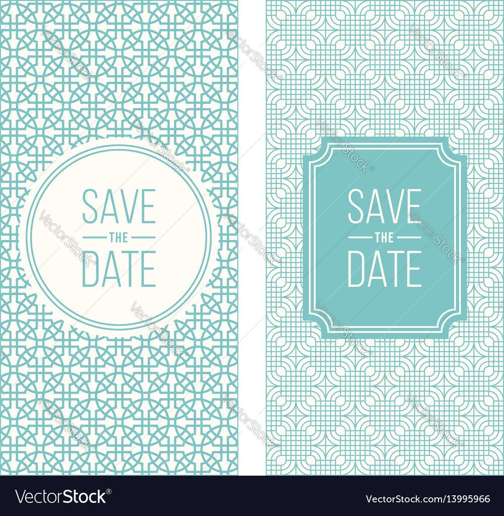 Retro invitation templates patterned background