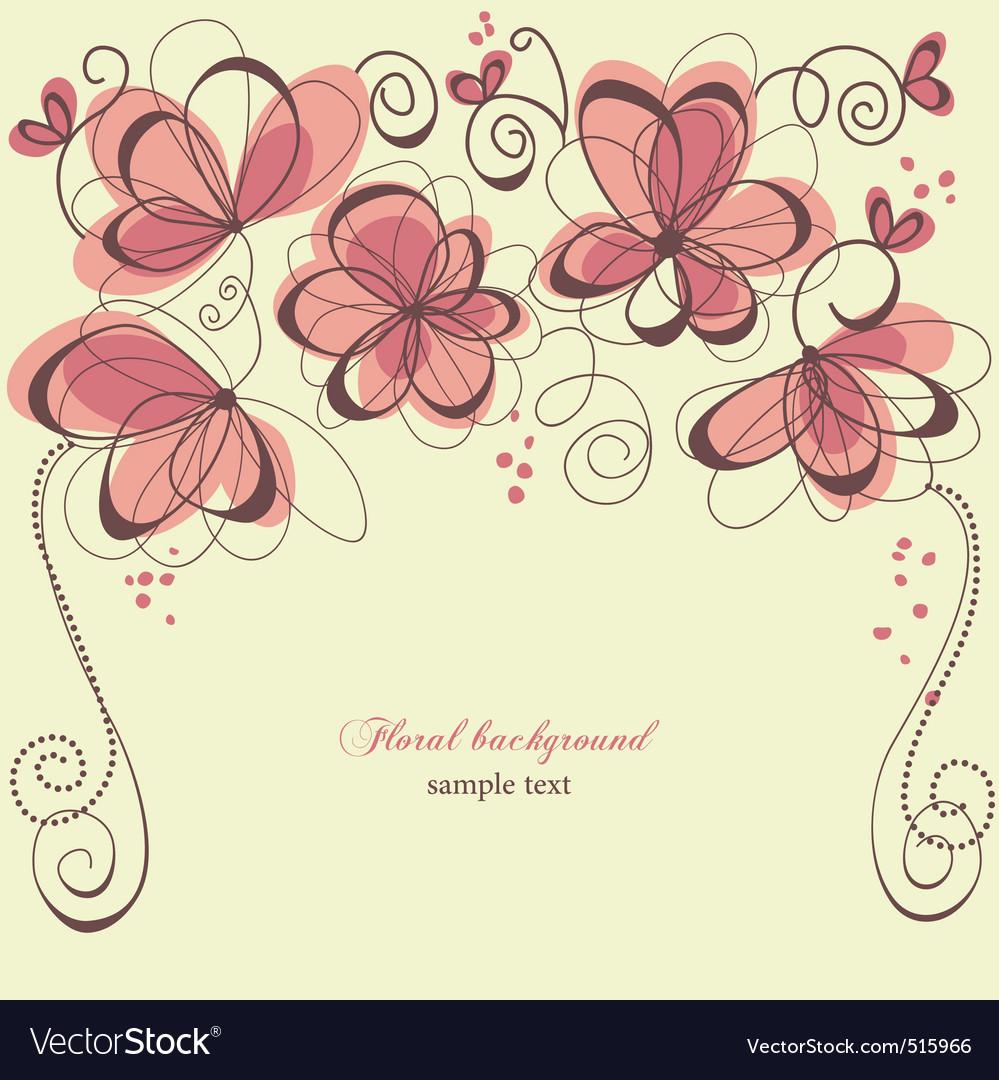 Romantic invitation vector image
