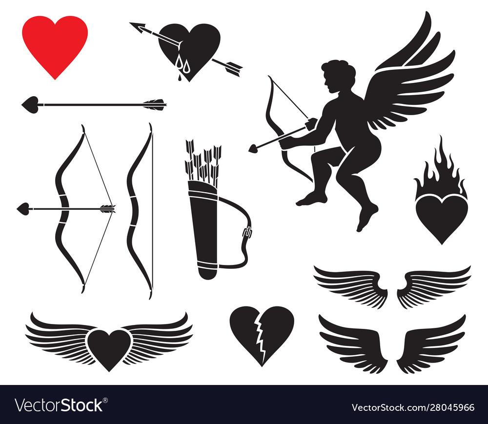 Set cupid icons - valentines day design