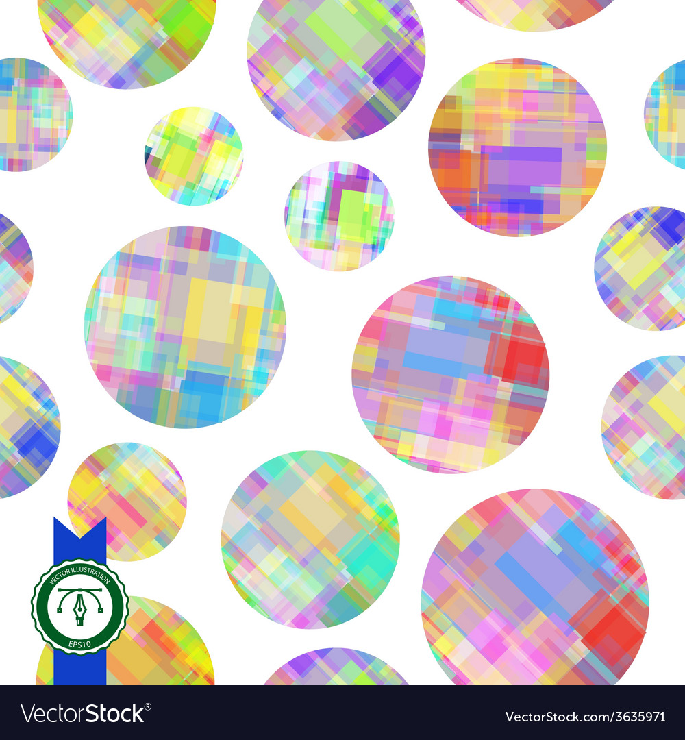 Abstract Colorful Circles Seamless Pattern