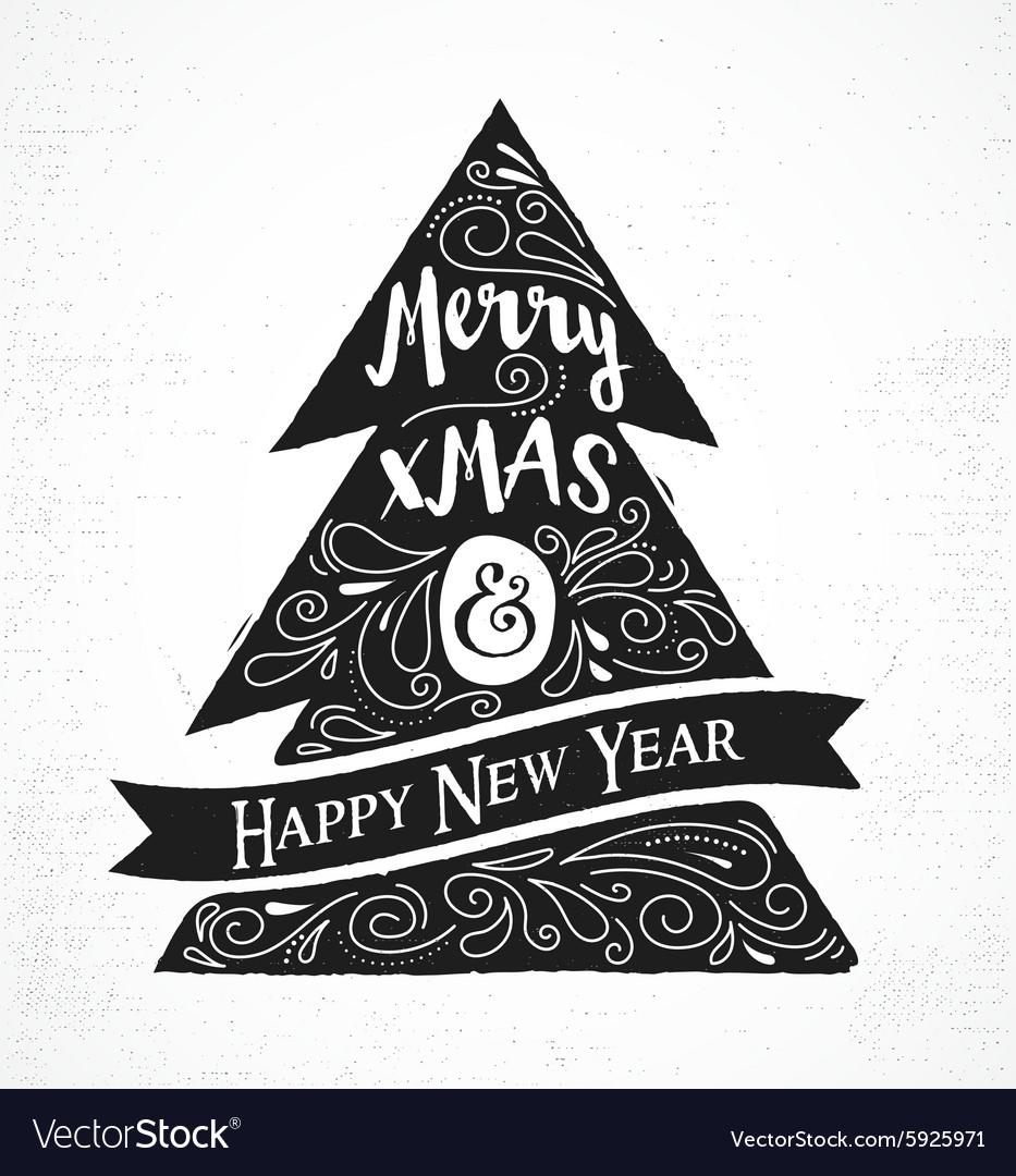 Chalkboard Vintage style Christmas Tree