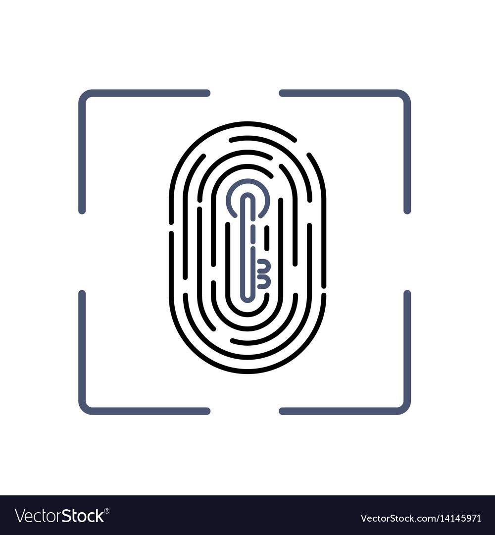 Fingerprint with key pattern inside vector image