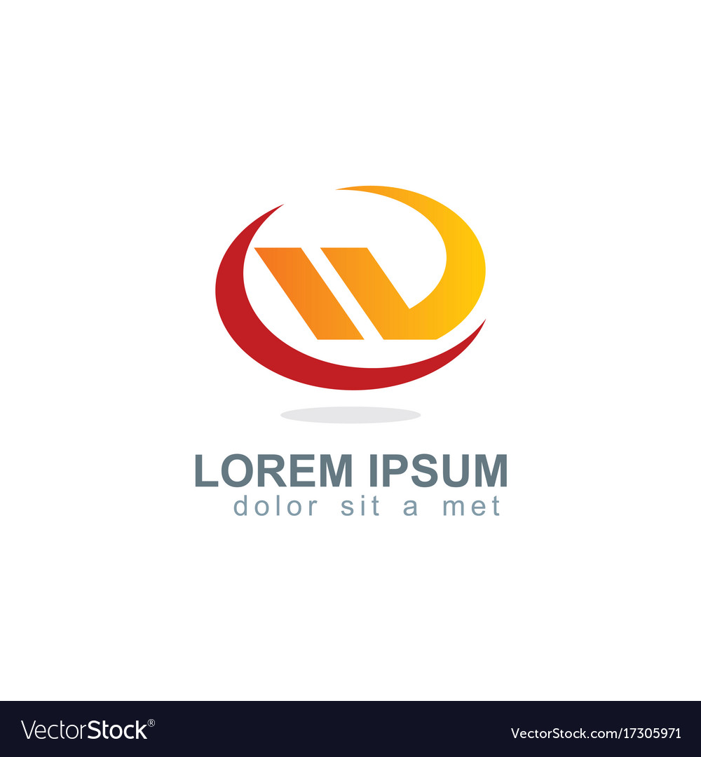 Shape oval business company logo vector image