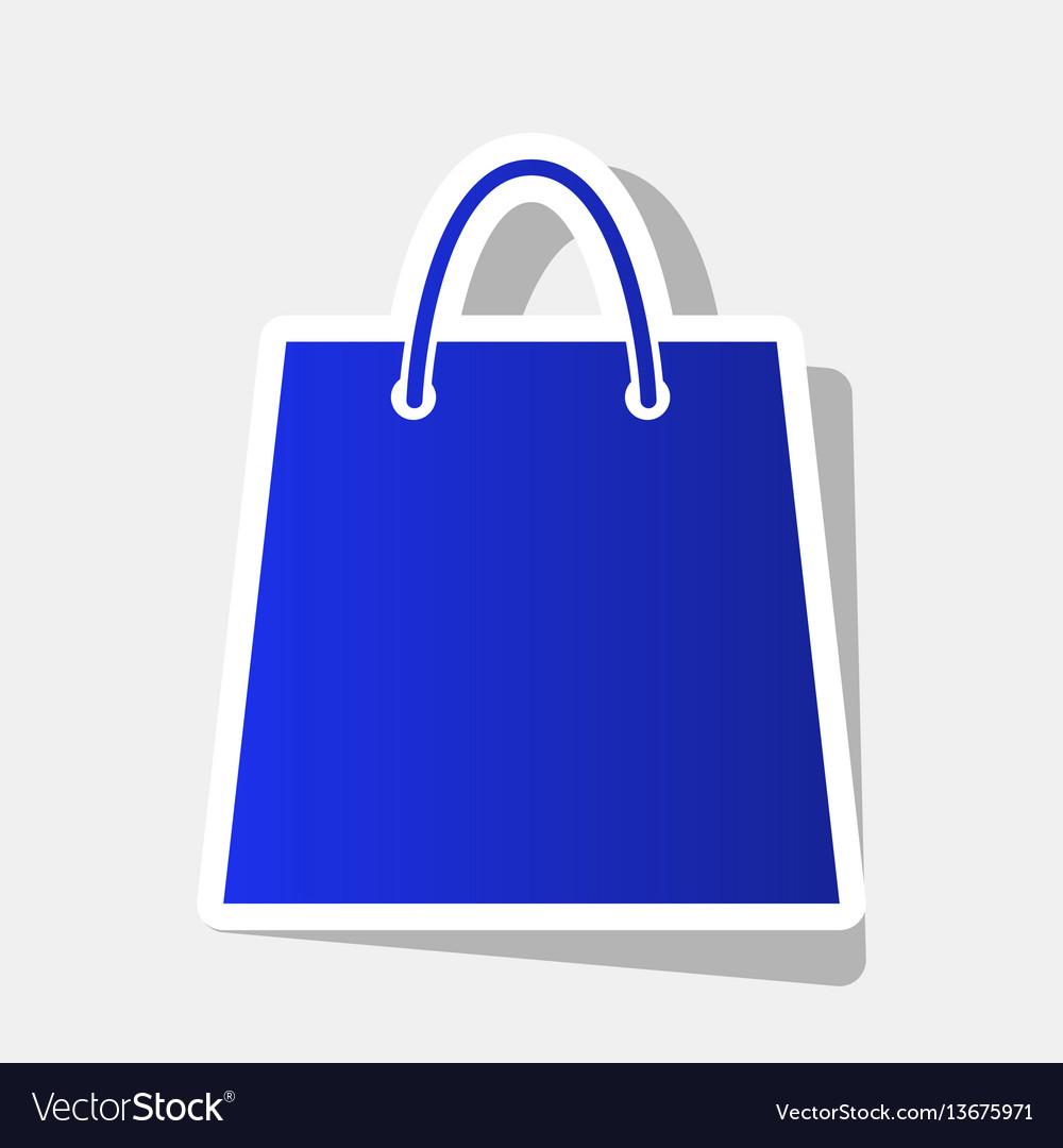Shopping bag new year bluish vector image