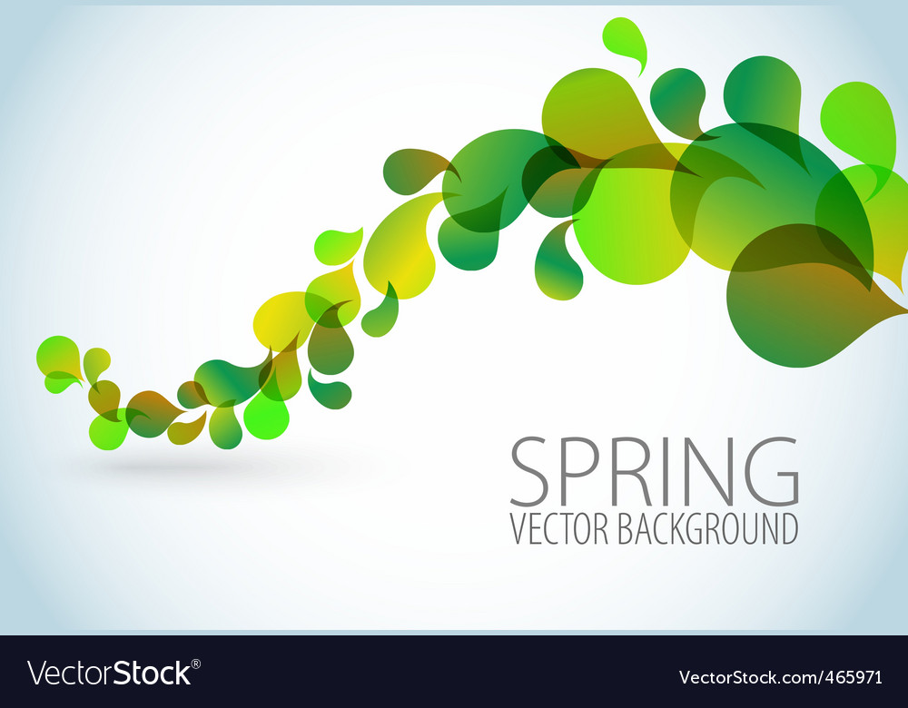 Spring abstract floral background vector image