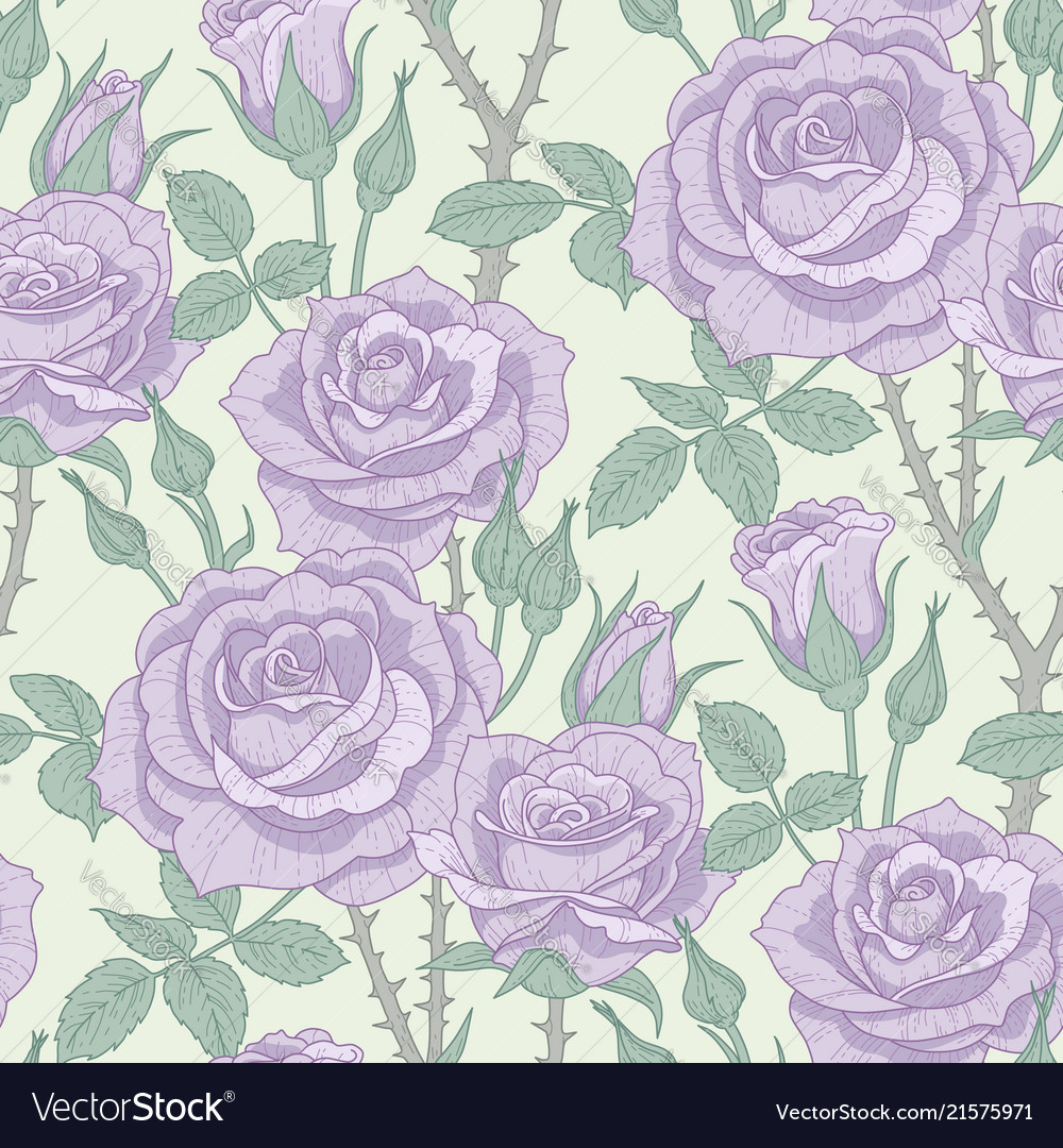 Violet roses pattern