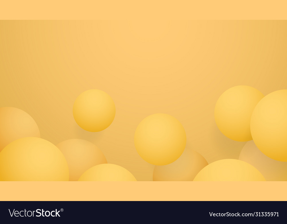Yellow ball abstract background