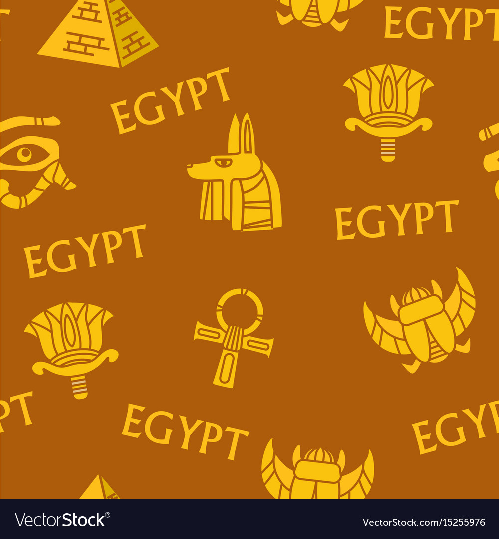Egypt ancient egyptian culture seamless patterns