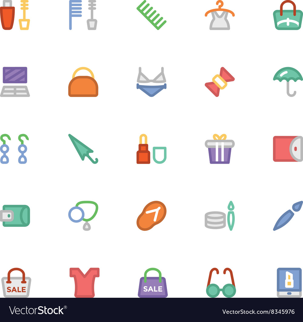 Fashion Colored Icons 11 vector image