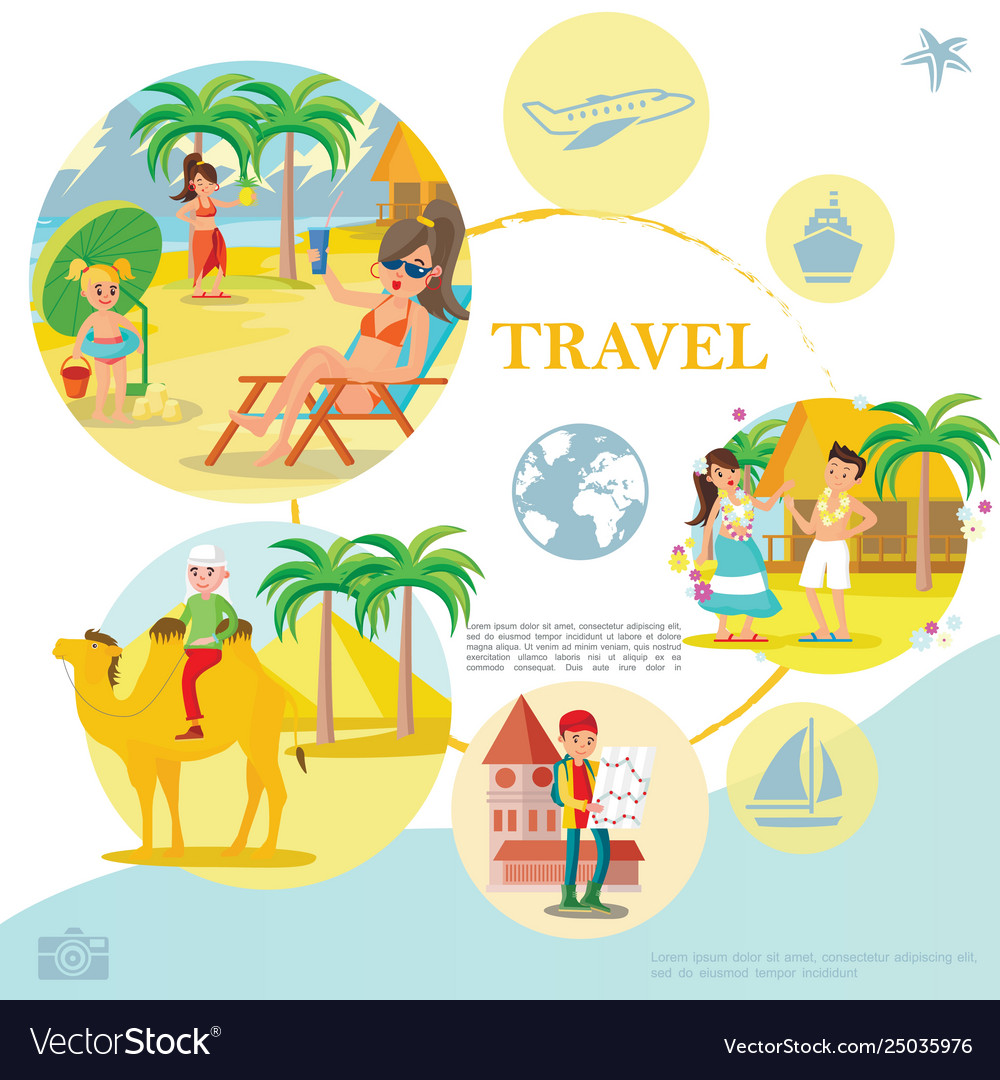 Flat travel template