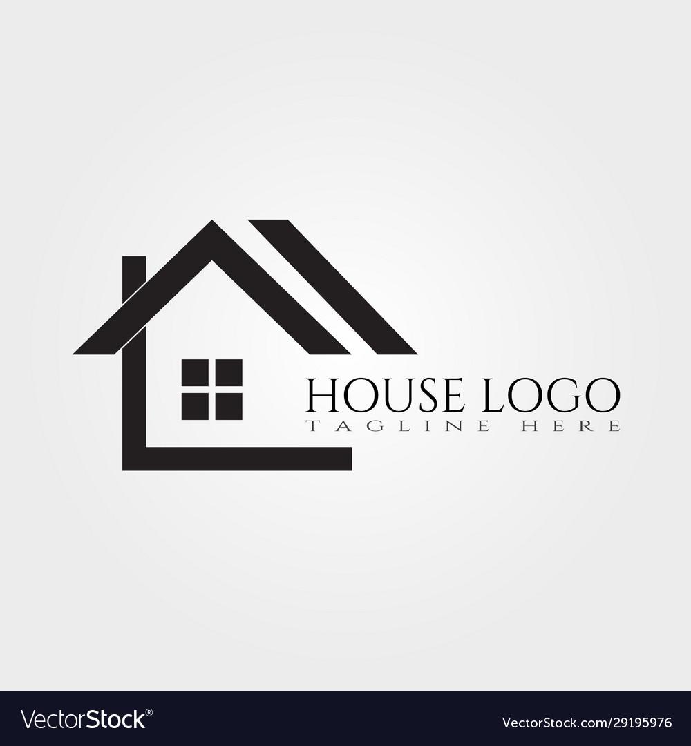 House Icon Template Home Creative Logo Design Vector Image