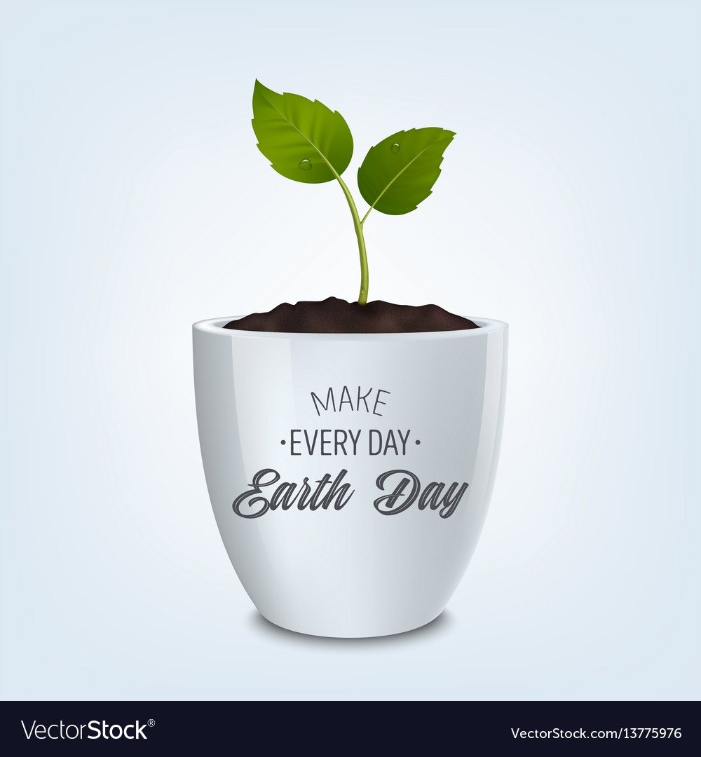 Make every day earth day - background with quote