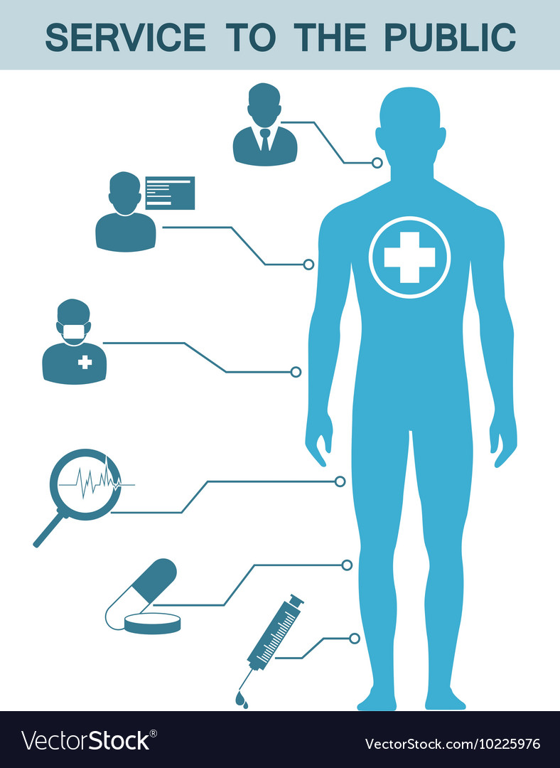 Medical icons and data and symbols