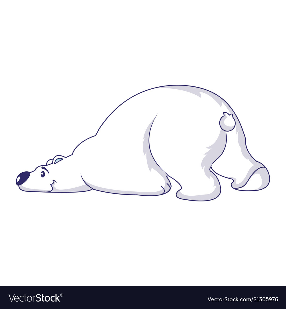 Sleeping polar bear icon cartoon style