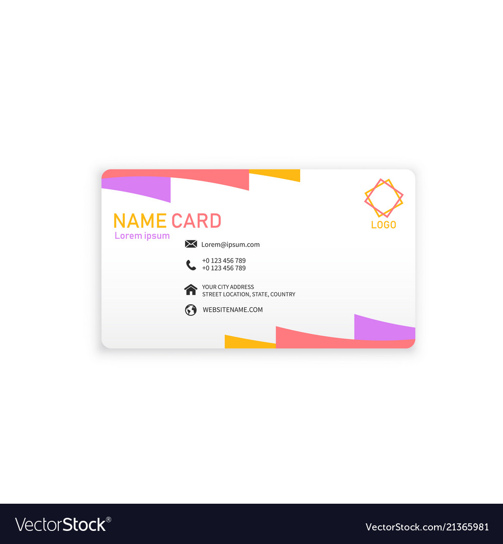 Colorful modern business name card image