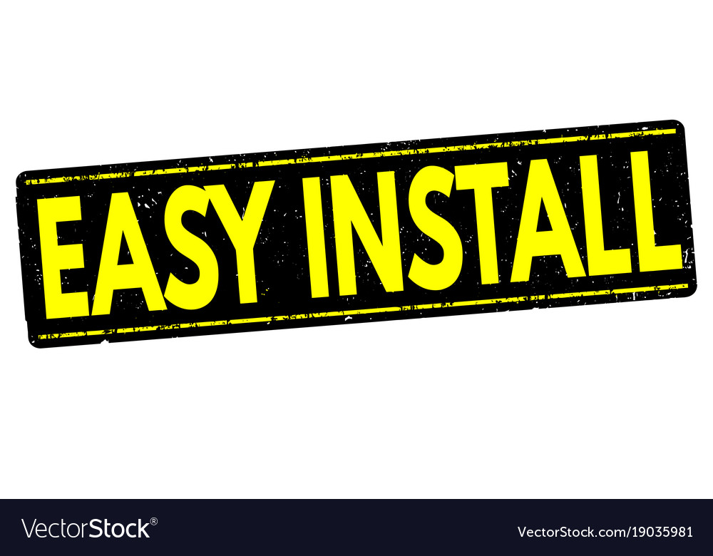 Easy install stamp vector image