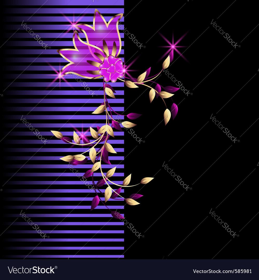 neon flowers royalty free vector image vectorstock