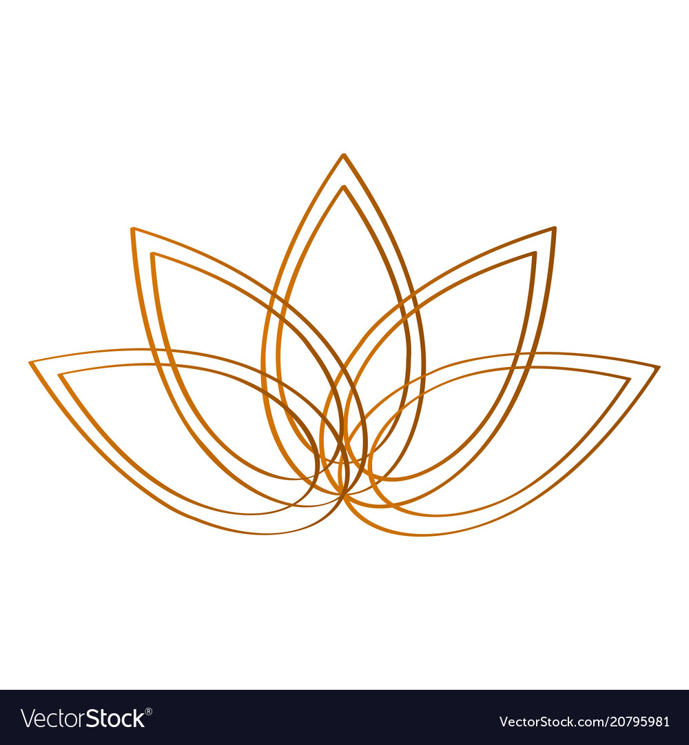 Outline Of A Lotus Flower Royalty Free Vector Image