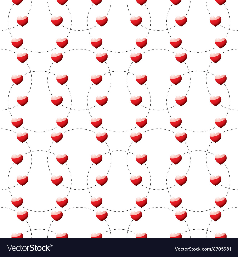 Red heart dotted