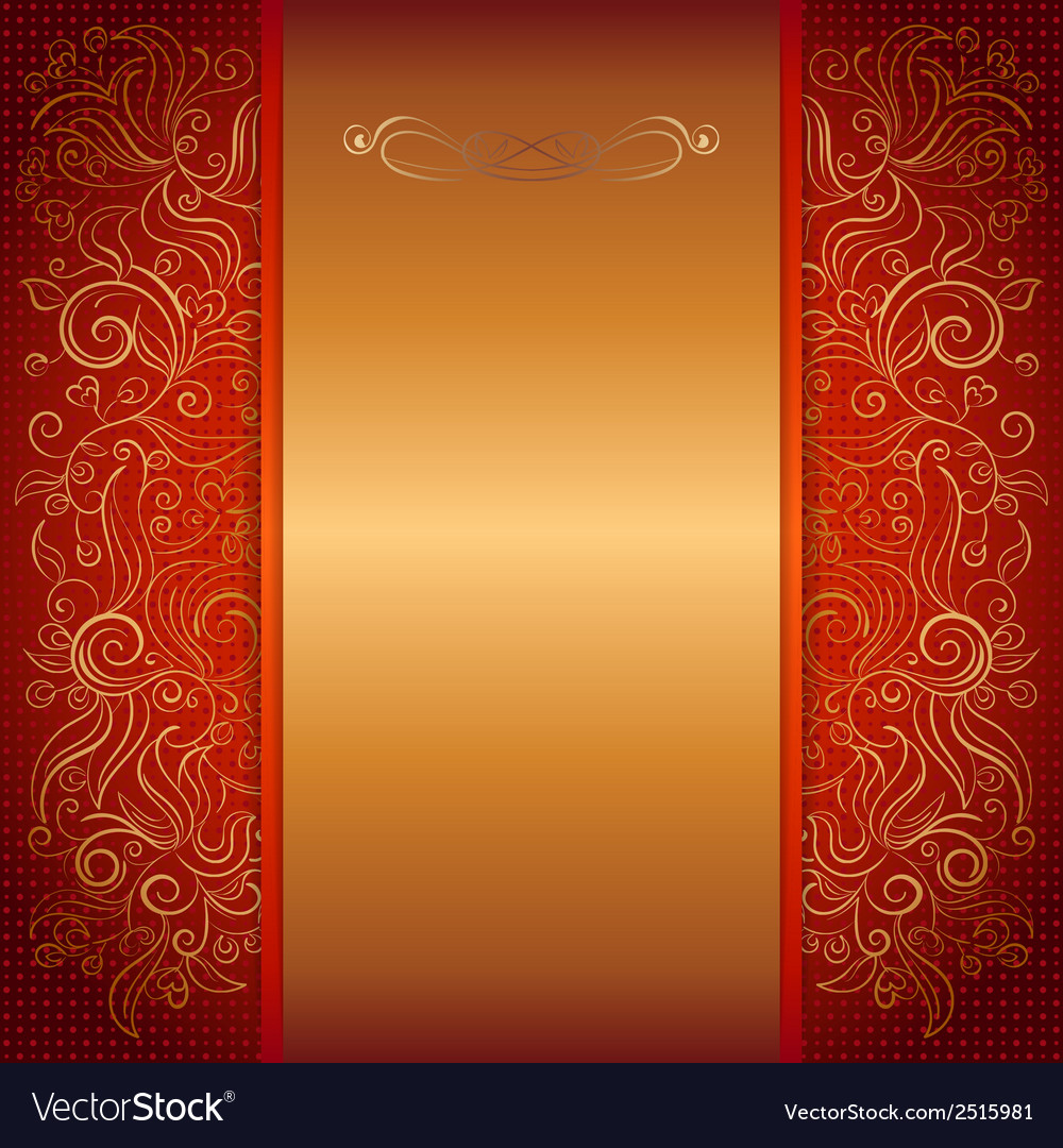 red royal invitation card vector image - Invitation Card