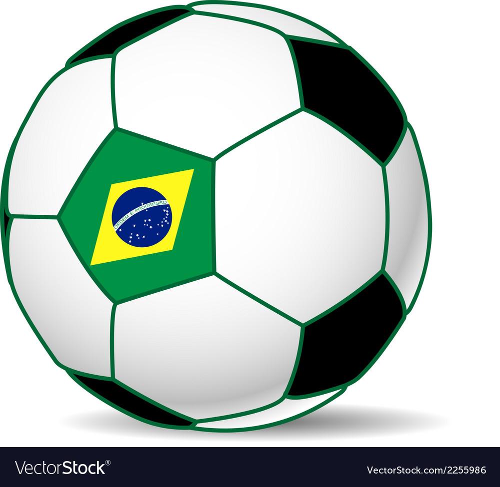 c12ca900b Brazil soccer ball Royalty Free Vector Image - VectorStock
