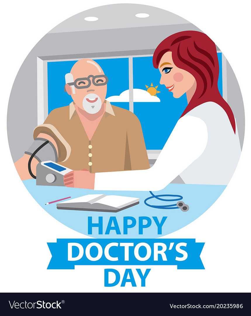 Card For Happy Doctors Day Royalty Free Vector Image