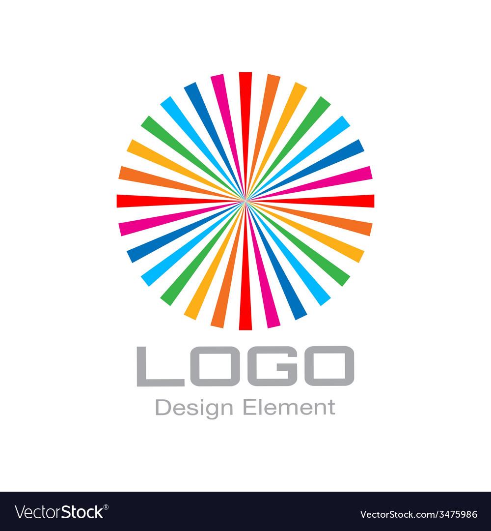 Colorful Bright Rainbow Circle Logo