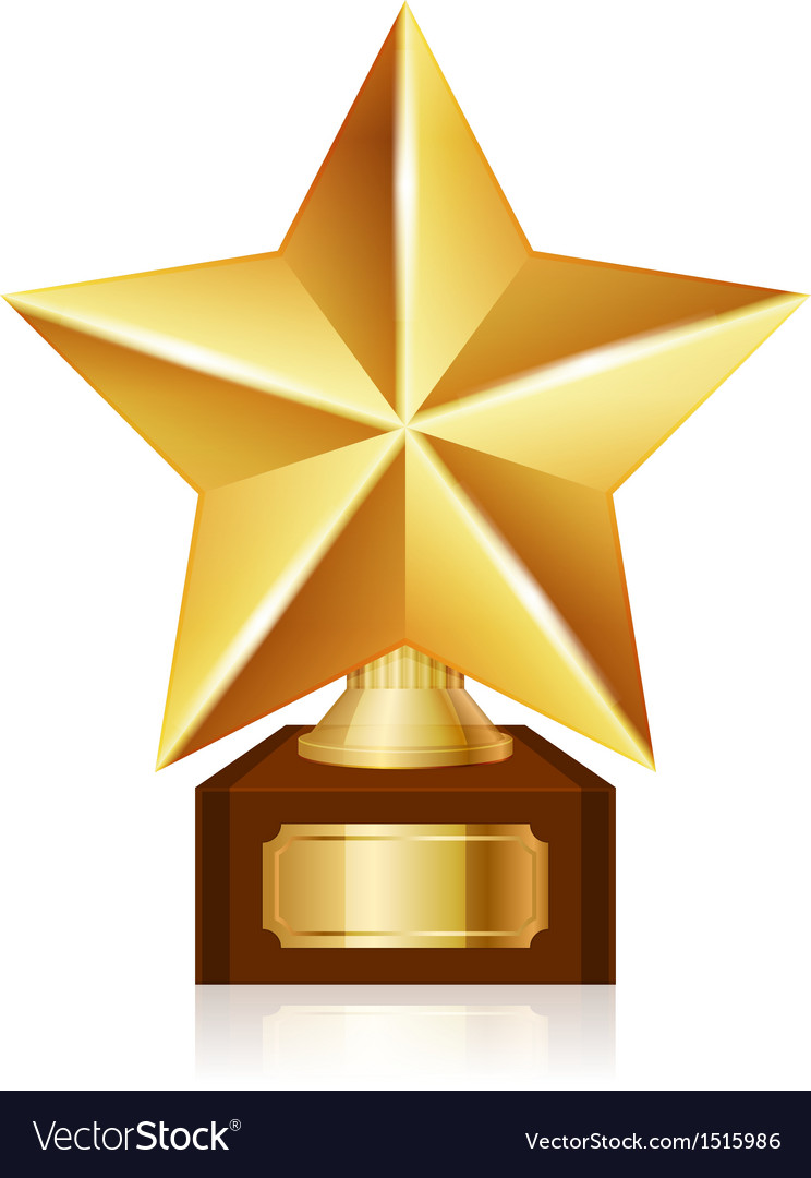 Gold star award Royalty Free Vector Image - VectorStock
