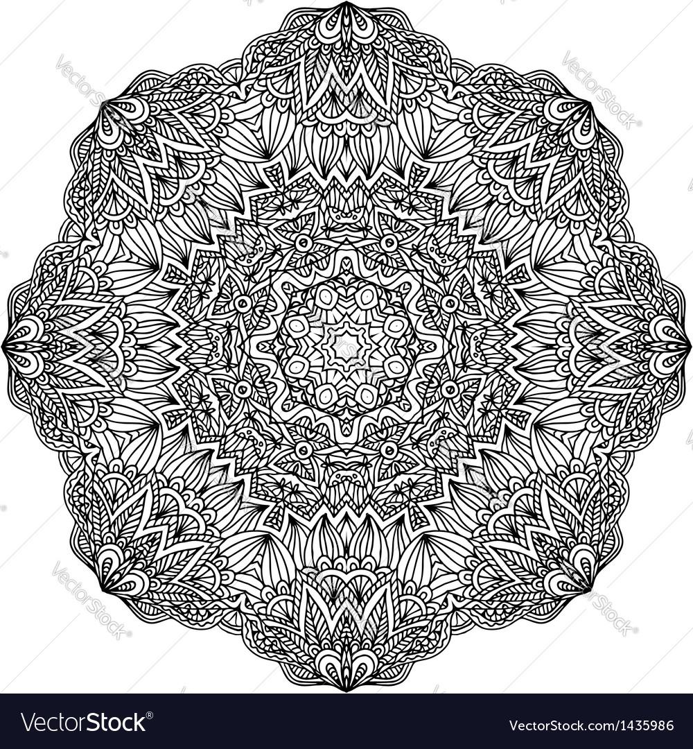 Lacy ornate black napkin vector image
