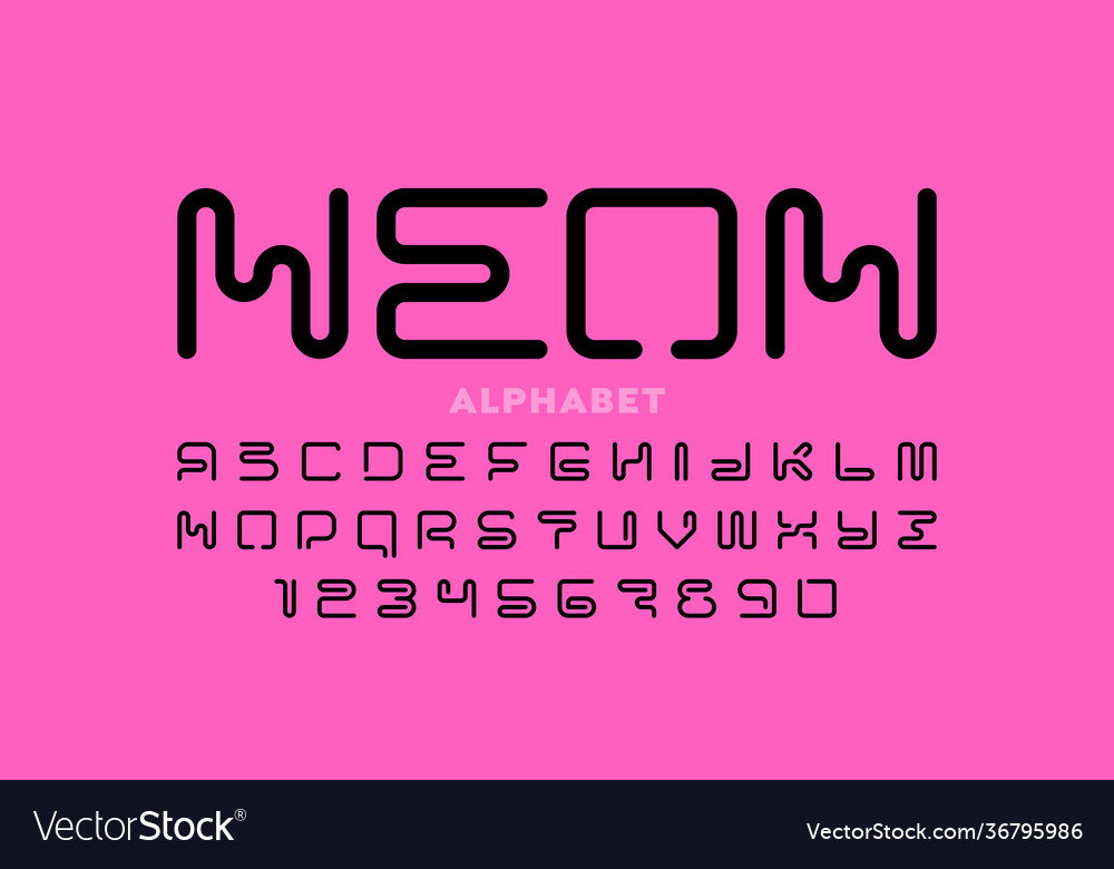 Neon style font