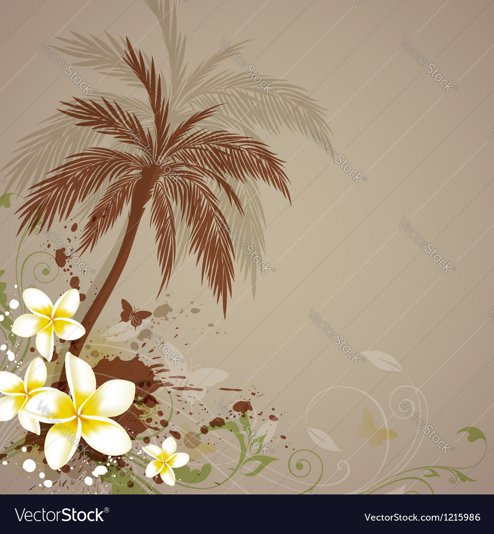 Palm abstract vector image