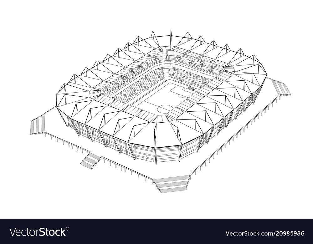 Drawing Of A Football Stadium Drawing Art Ideas