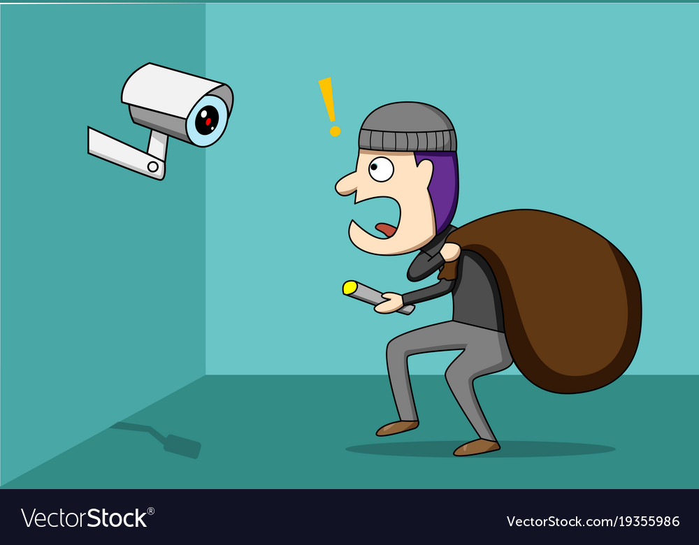 Thief shocked while cctv detected a robber
