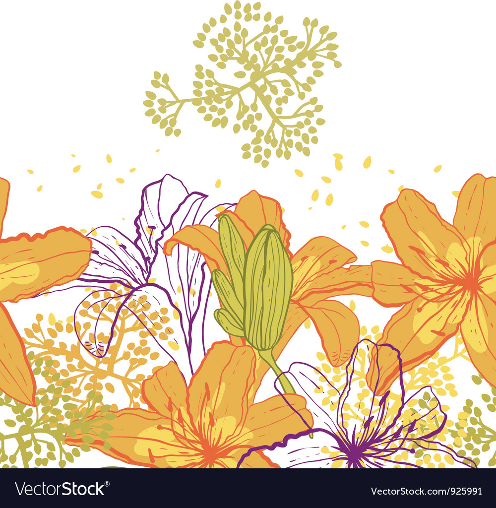 Beautiful seamless pattern with lilies