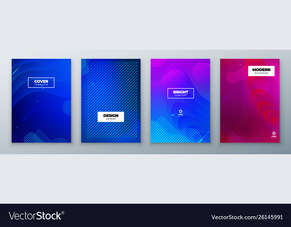 Minimal modern cover design dynamic colorful