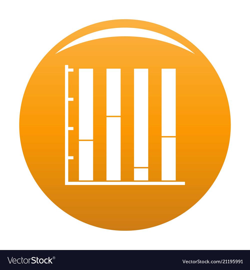 New chart icon orange