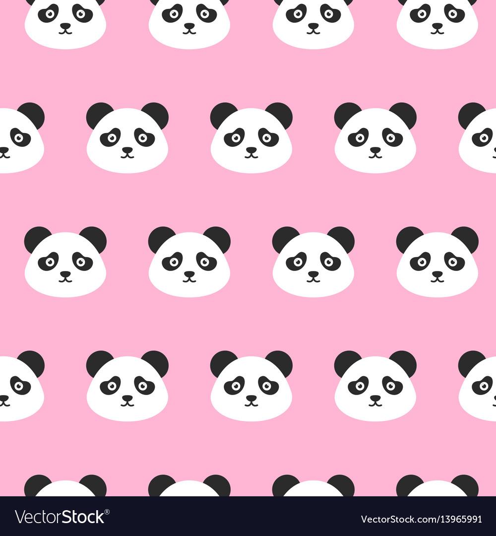 Panda heads seamless pattern