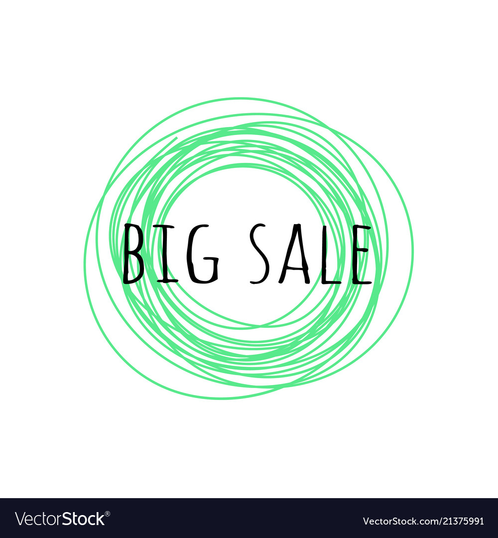 Promotion grunge badge with big sale sign isolated
