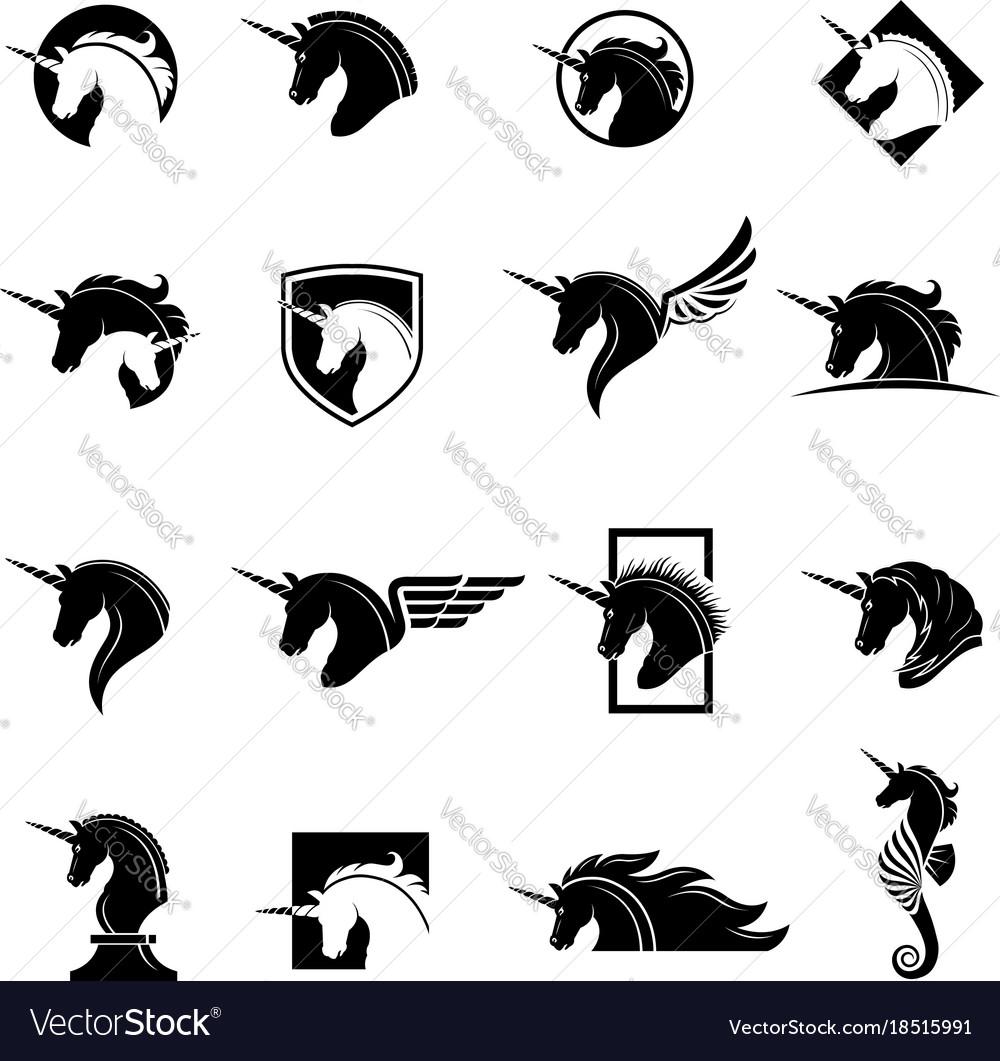 Set unicorn heads
