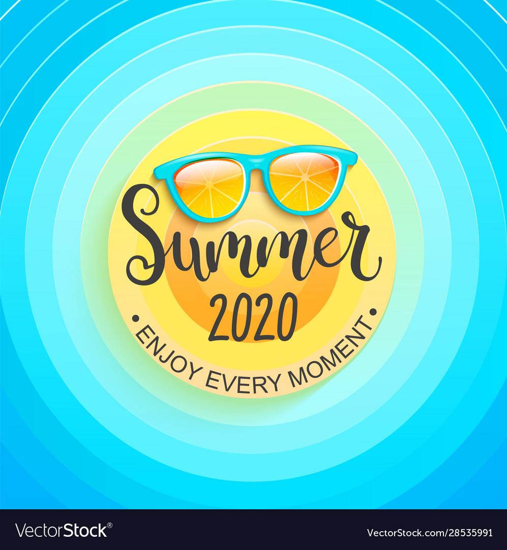 Summer greeting banner for summertime 2020