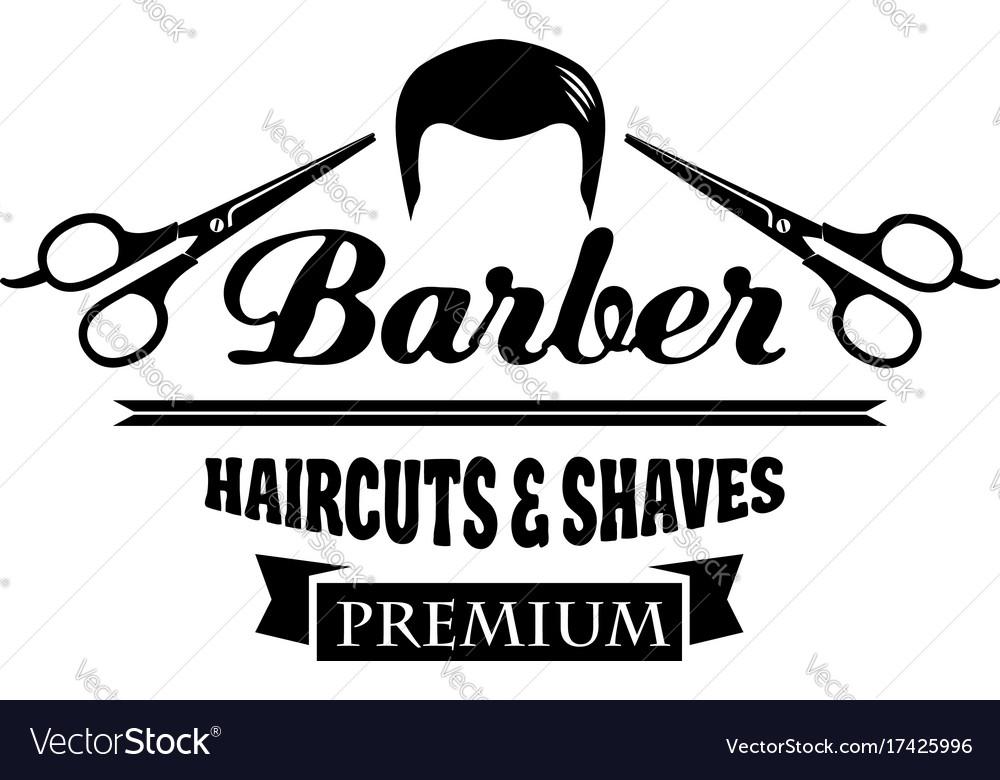Barber Shop Symbol Or Hair Salon Emblem Design Vector Image