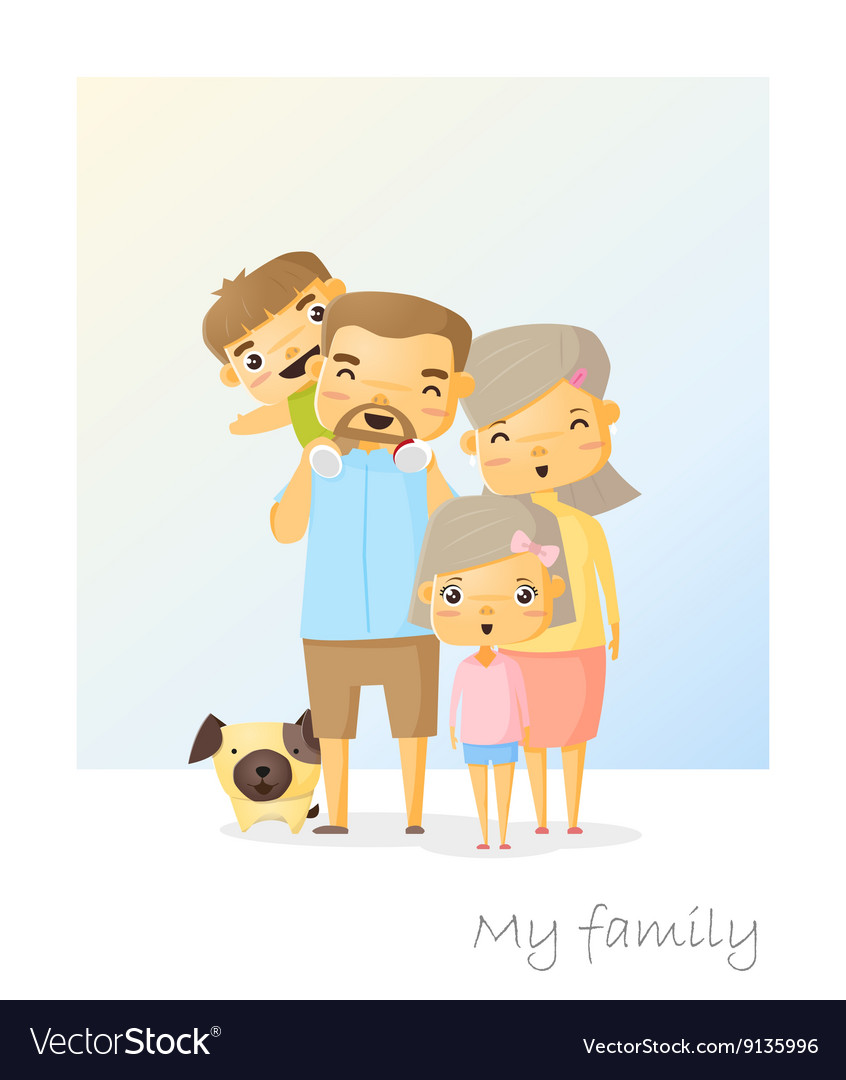 Cute family portrait Happy family background