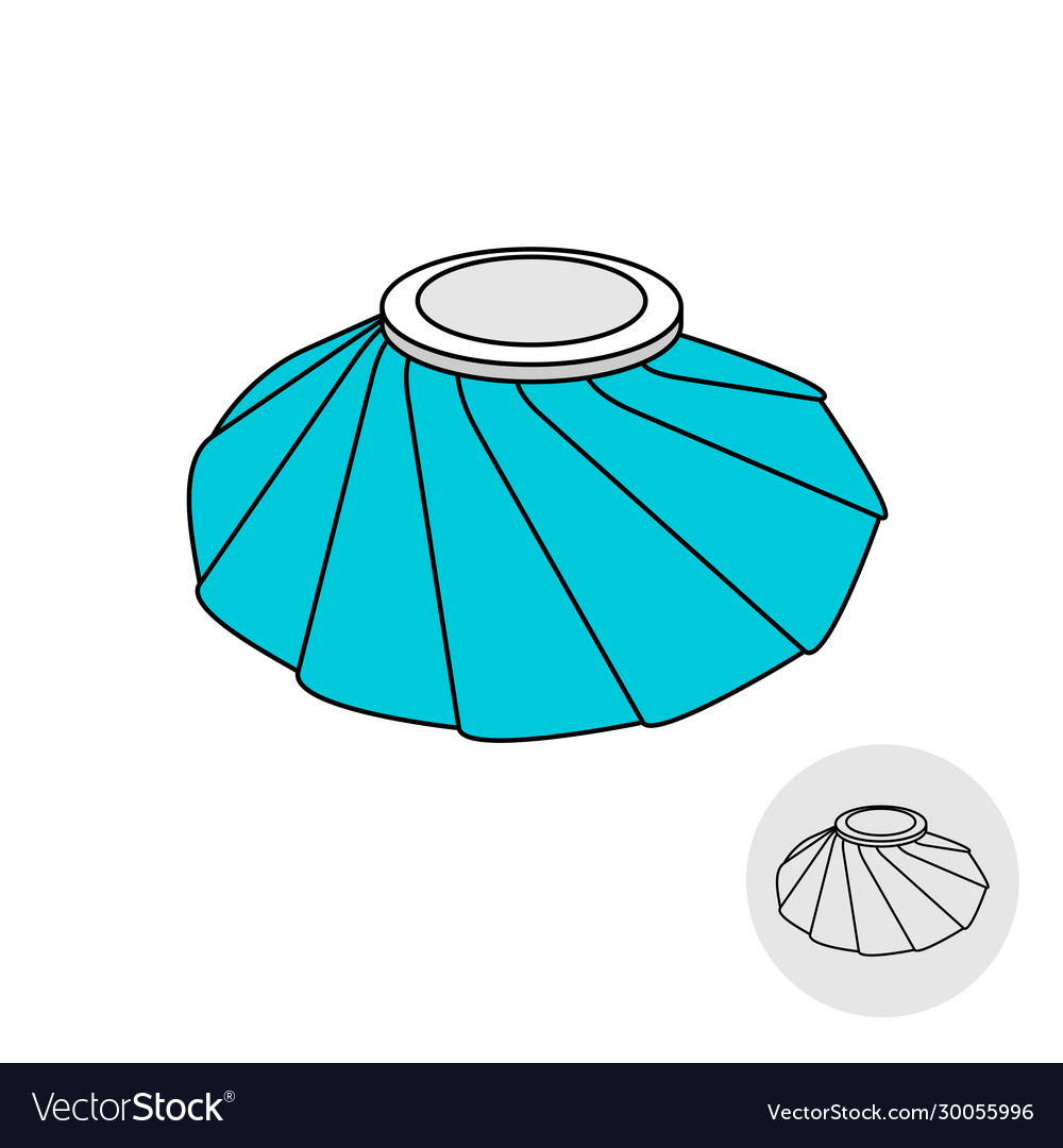 medical bag filled with ice cubes cooling and vector image vectorstock