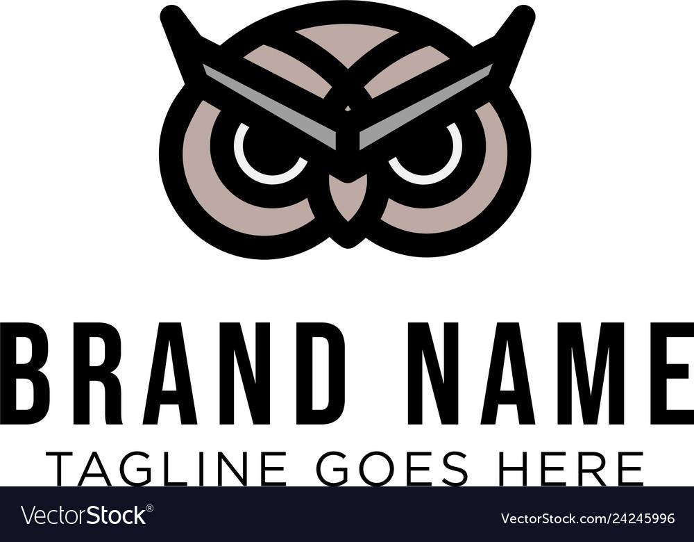 Owl logo concept creative minimal design