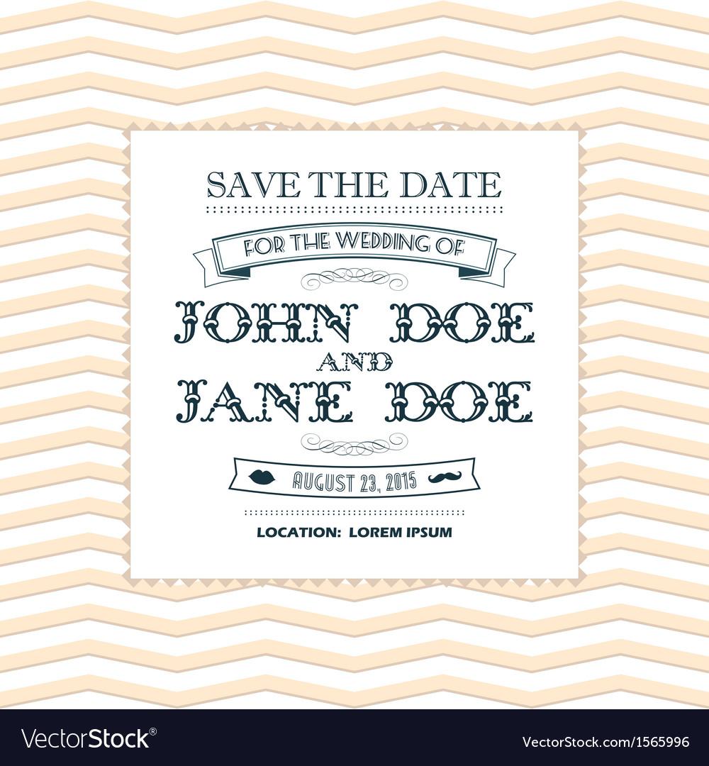 Wedding invitation yellow