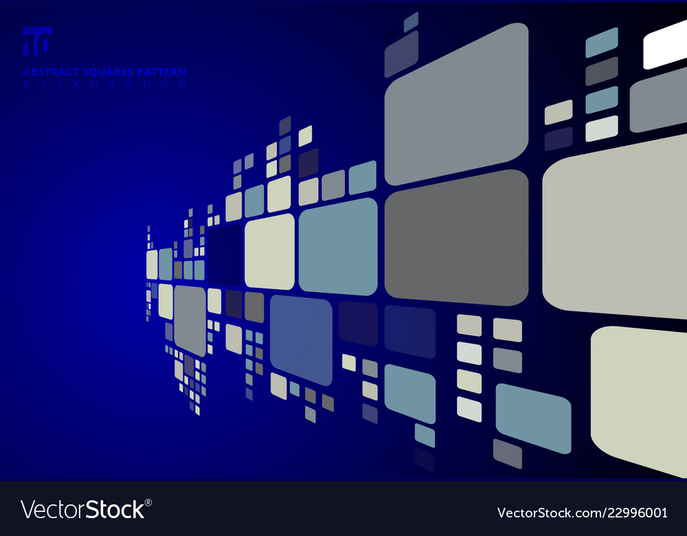 Abstract blue color tone geometric squares