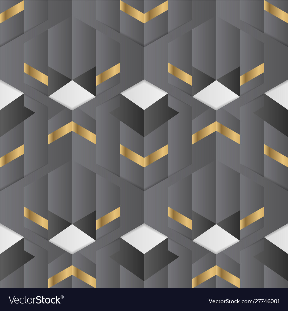 Abstract geometric decor stripes black and golden