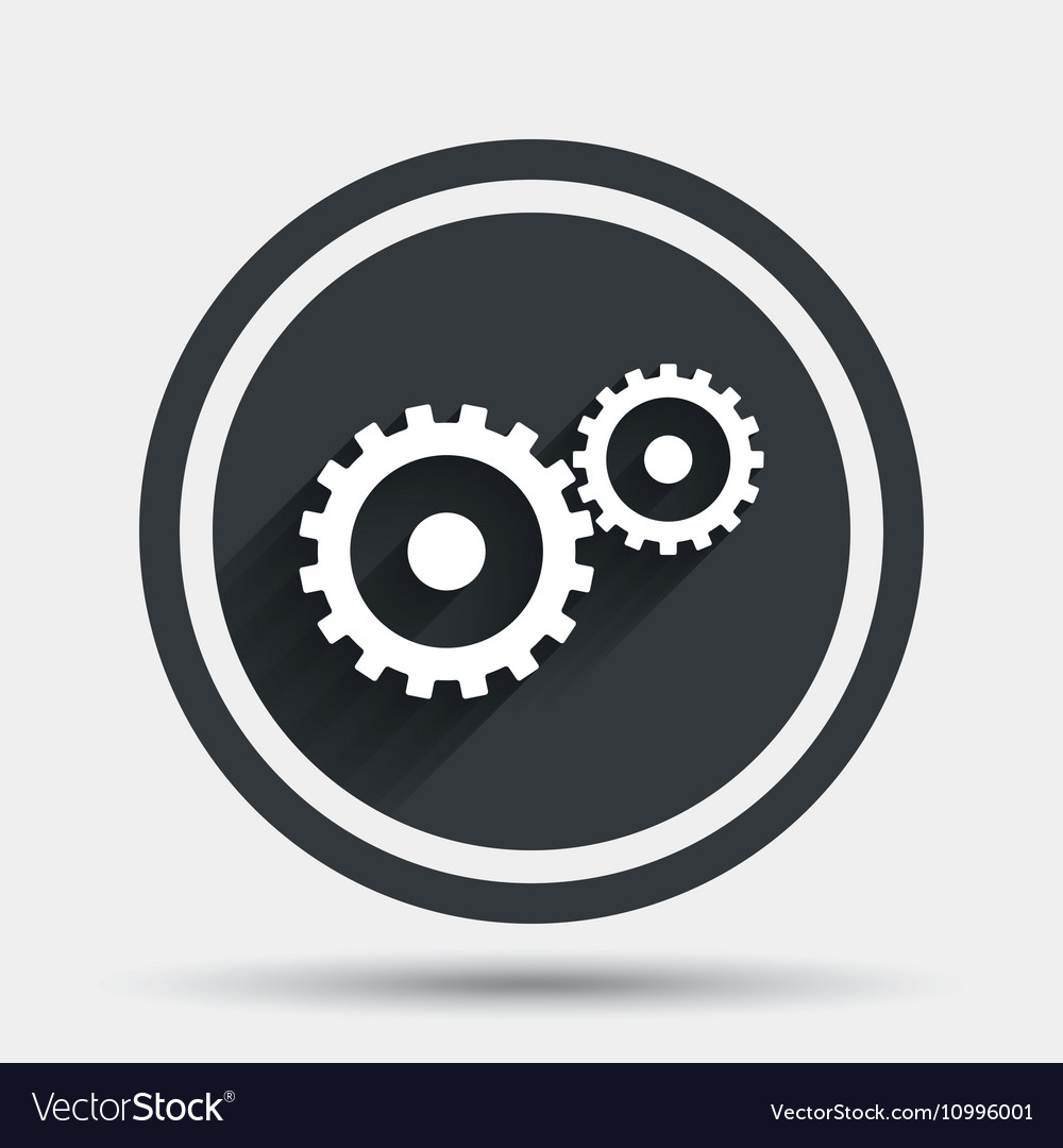 Cog settings sign icon Cogwheel gear symbol