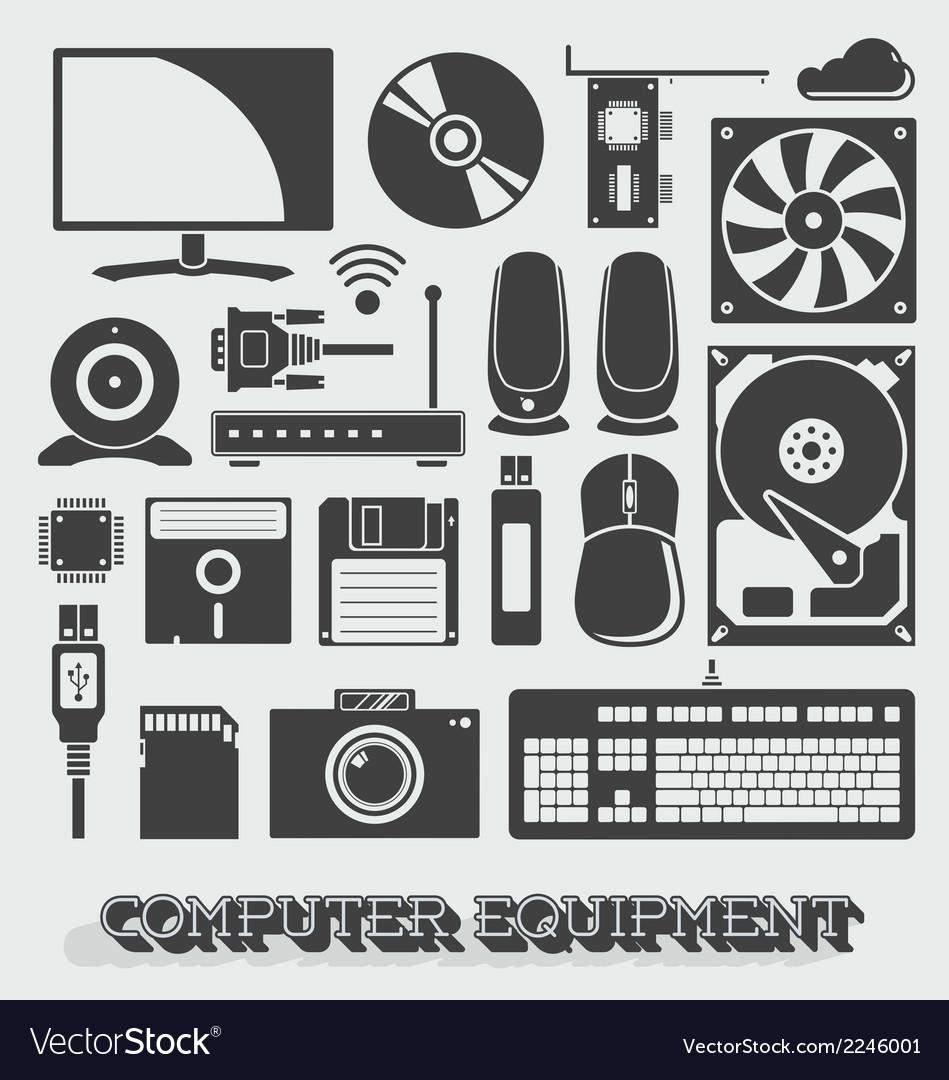 Computer Parts Royalty Free Vector Image Vectorstock